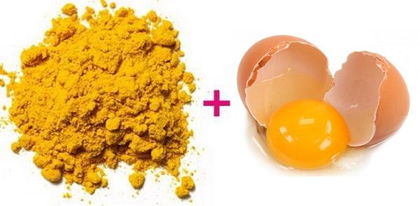 Cách trị nám với trứng gà + tinh bột nghệ